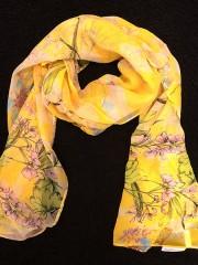 Sidenscarf gul
