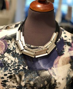 Halsband silver schackel