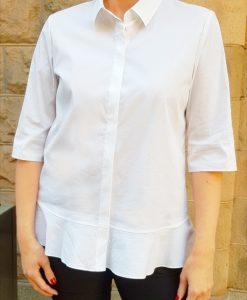 Bomullsskjorta med volang