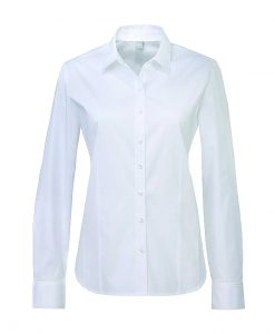 Bomullsskjorta i vit bomull