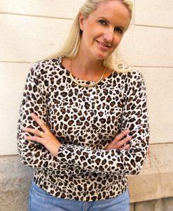 Leopardtröja finstickad