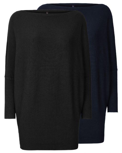 Ledig finstickad tröja lång (FQ-SALLY)