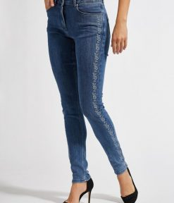 LauRie Olivia Embroidery Skinny Jeans